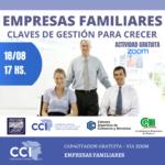 """Nueva capacitación gratuita:""""Empresas Familiares: claves de gestión para crecer""""."""